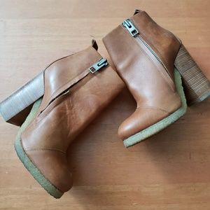 All Saints | Camel Light Brown Leather Boots